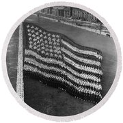 Flag Formation, C1917 Round Beach Towel