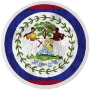 Flag Of Belize Round Beach Towel