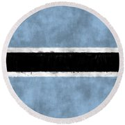 Flag Of Botswana Round Beach Towel