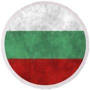 Flag Of Bulgaria Round Beach Towel
