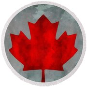 Flag Of Canada Round Beach Towel