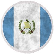 Flag Of Guatamala Round Beach Towel