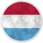 Flag Of Luxembourg Round Beach Towel