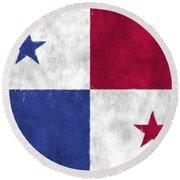 Flag Of Panama Round Beach Towel
