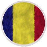 Flag Of Romania Round Beach Towel