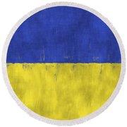 Flag Of Ukraine Round Beach Towel