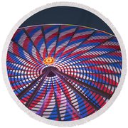 Flag Wheel Round Beach Towel