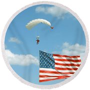 Flagdiver Round Beach Towel
