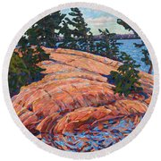 Flagging Pines Round Beach Towel