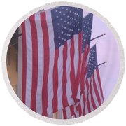 Flags At Cape May Nj Round Beach Towel