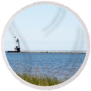 Flags In The Wind Round Beach Towel