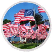 Flags Of Glory Round Beach Towel