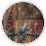 Flags Of The Confederacy Round Beach Towel by Randy Steele