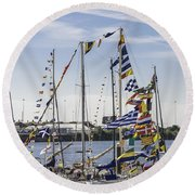Flags Of The World 2 Round Beach Towel