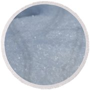 Flakes Round Beach Towel