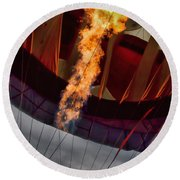 Flame On Two Round Beach Towel