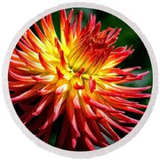 Flame Tips Round Beach Towel