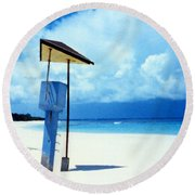 Flamenco Beach And Storm Round Beach Towel