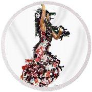 Flamenco Series #12 Round Beach Towel
