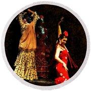 Flamenco Series #6 Round Beach Towel