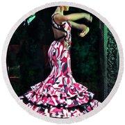 Flamenco Series No. 10 Round Beach Towel