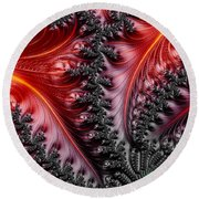 Flames - A Fractal Abstract Round Beach Towel
