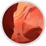 Flames In The Slot Round Beach Towel