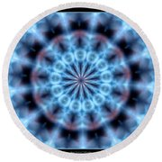 Flames Kaleidoscope 4 Round Beach Towel