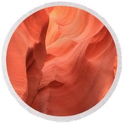 Flaming Face Round Beach Towel