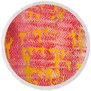 Flaming Fire Round Beach Towel