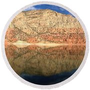 Flaming  Gorge Reflections Round Beach Towel