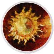 Flaming Out Round Beach Towel