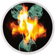 Flaming Personality Round Beach Towel