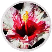 Flaming Petals Round Beach Towel