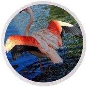 Flamingo Flight Round Beach Towel