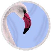 Flamingo Pop Art Round Beach Towel