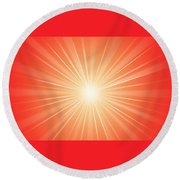 Flash 2 Round Beach Towel by Philip Ralley