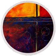 Flash Abstract Painting Round Beach Towel