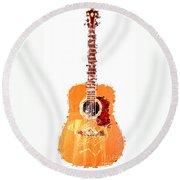 Flashy Guitar Round Beach Towel