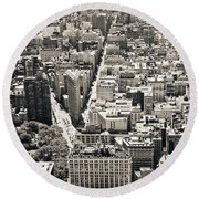 Flatiron Building - New York City Round Beach Towel