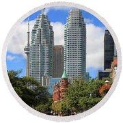 Flatiron Building Toronto 2 Round Beach Towel
