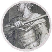 Flavius Domitian Round Beach Towel by Titian
