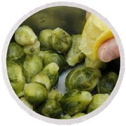 Flavoring Brussels Sprouts Round Beach Towel