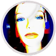 Flawless Face Round Beach Towel