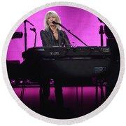 Fleetwood Mac - Christine Mcvie Round Beach Towel