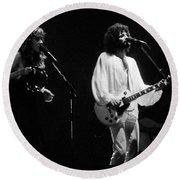 Fleetwood Mac In Amsterdam 1977 Round Beach Towel