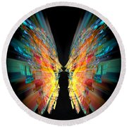 Flight Abstract Round Beach Towel