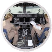 Flight Captains Review Flight Round Beach Towel