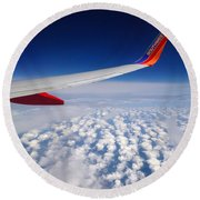Flight Home Round Beach Towel