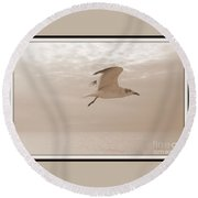 Flight Round Beach Towel